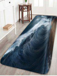 Extra Large Ocean Surge Coral Fleece Bath Rug