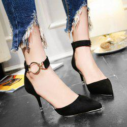 Zipper Two Piece Metal Ring Pumps