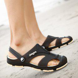 Metal Embellishment Plastic Sandals - BROWN