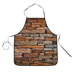 Vintage Brick Polyester Cooking Apron - BROWN