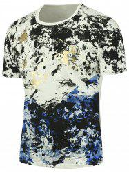 Splashed Paint Short Sleeves Tee