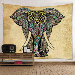 Mandala Elephant Print Tapestry Wall Hanging Art Decoration - Multicolore