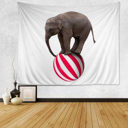 Elephant On A Ball Print Tapestry Wall Hanging Art Decoration