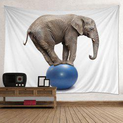 Wall Hanging Art Decoration Elephant On A Ball Print Tapestry
