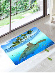 Palm Sea Turtle Skidproof Bath Rug