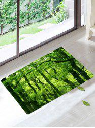 Forest Floor Coral Velvet Bathroom Mat