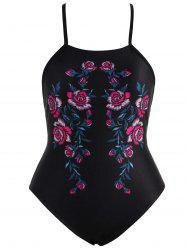 Floral Cross Back Plus Size Swimsuit