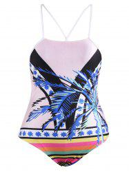Cross Back Tropical Swimwear