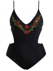 Cut Out High Waisted Plus Size Swimsuit