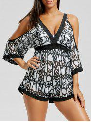 Lace Up Bikini with Mesh Tunic Cover-Up