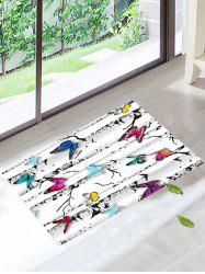 Skidproof Butterfly Tree Print Bath Rug