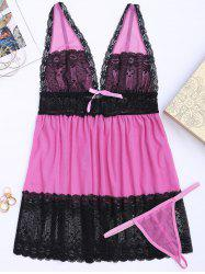 Lace Plus Size Mesh Cami Sleep Dress