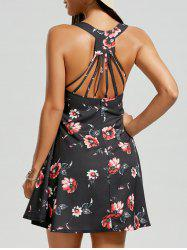Strappy Floral Sundress - BLACK
