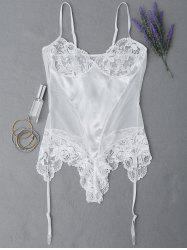 Lace Panel See Through Teddy