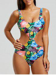 Cut Out High Waisted Pineapple Swimsuit