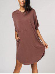 Relaxed Fit Pullover Hoodie Dress -