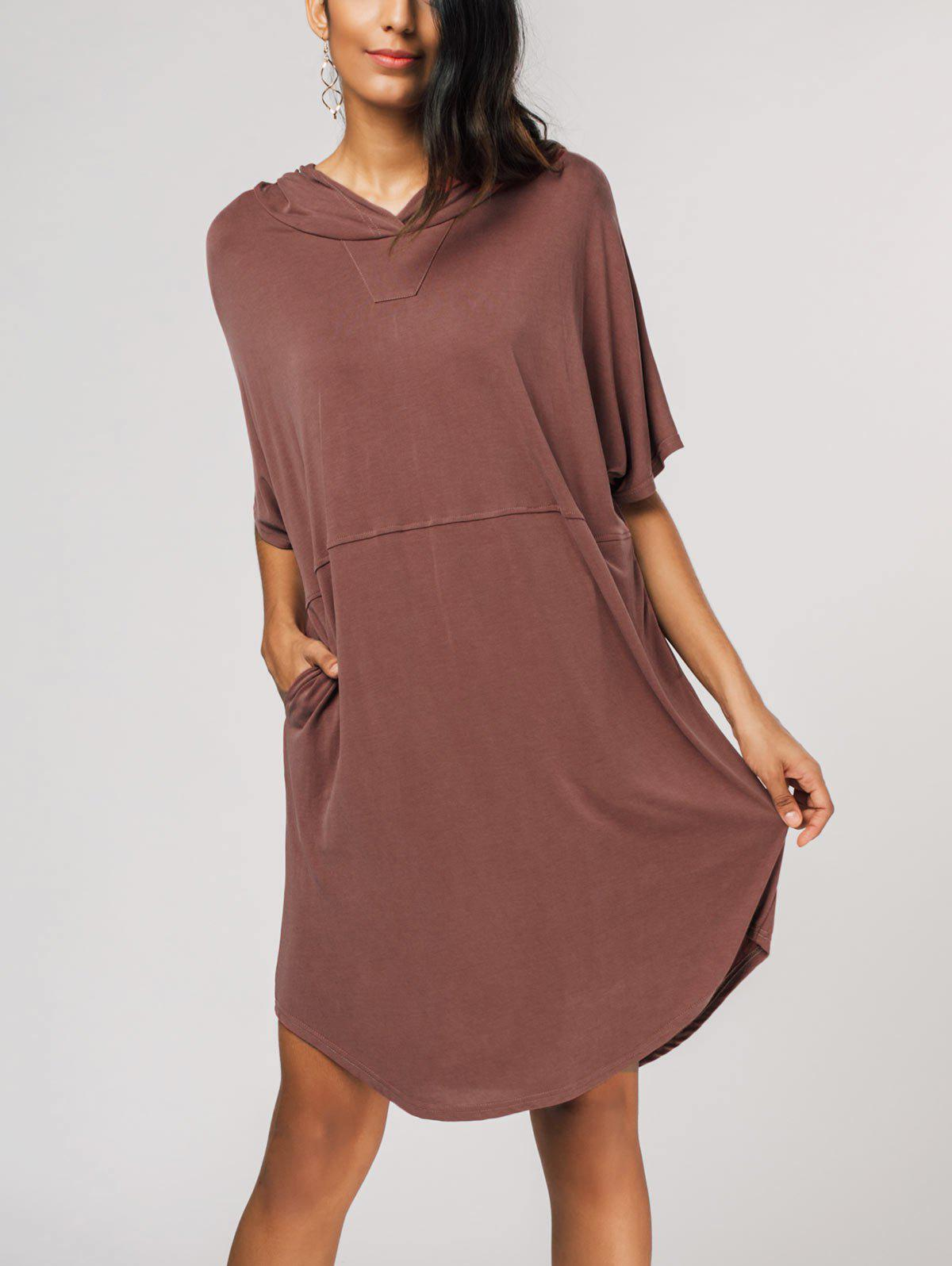 Trendy Relaxed Fit Pullover Hoodie Dress