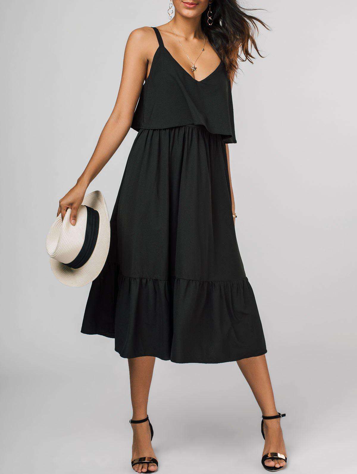 Affordable Sleeveless Popover Midi Dress