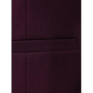 Gilet de bonnet à encolure en V - Rouge vineux  3XL