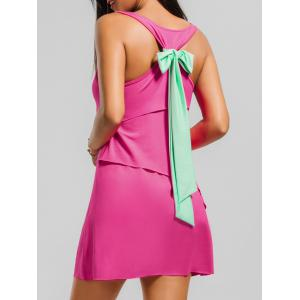 Back Bowknot Layered Tank Dress
