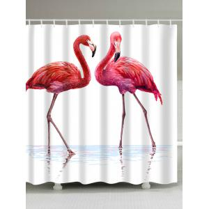 Extra Long Flamingo in Water Fabric Shower Curtain