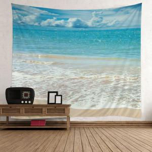 Beach Style Wave Print Wall Hanging Art Tapestry