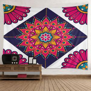 Wall Hanging Art Decoration Mandala Bohemian Print Tapestry - Colormix - W79 Inch*l59 Inch