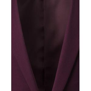 Slim Fit Lapel Blazer Casual Breasted Casual - Rouge vineux  M