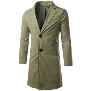 Single Breasted Turndown Collar Longline Coat