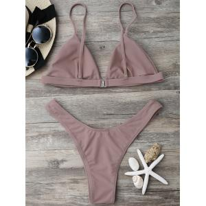 High Cut Thong Bikini Set -