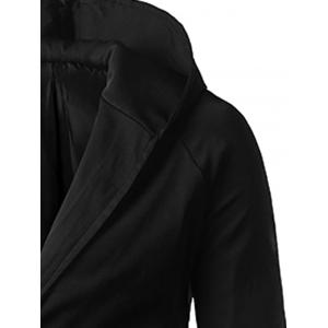 Single Breasted Hooded Longline Coat -