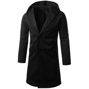 Single Breasted Hooded Longline Coat