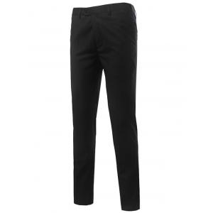 Slim Fit Zipper Fly Straight Leg Chino Pants
