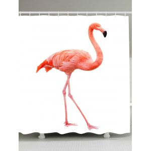 Flamingo Bathroom Water Repellent Shower Curtain - White - W71 Inch * L71 Inch