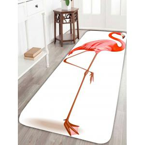 Coral Velvet Flamingo Large Area Rug