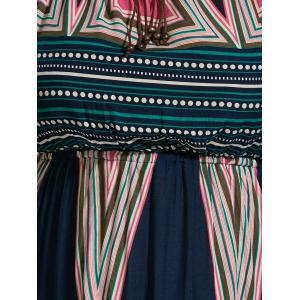 Plus Size Printed Maxi Slip A Line Flowy Dress - MULTI 2XL