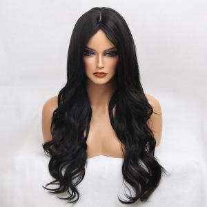 Long Center Part Natural Wavy Synthetic Wig
