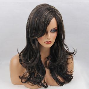 Long Side Bang Shaggy Layered Curly Synthetic Wig