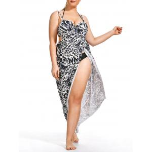 Plus Size Maxi Wrap Cover Up Dress
