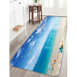 Beach Style Sea Gull Skidproof Area Rug - Blue - W24 Inch * L71 Inch