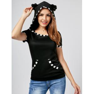 Cat Ear Hooded T-Shirt