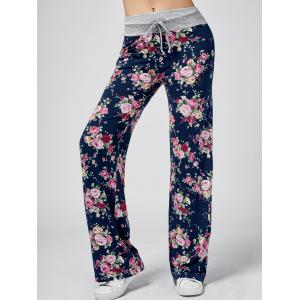 Floral Wide Leg Sweatpants