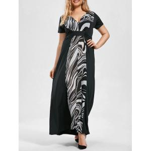 Short Sleeve Empire Waist Plus Size Maxi Dress