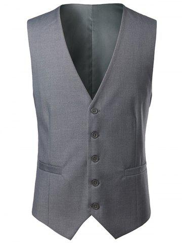 Outfit Single Breasted V Neck Belt Design Waistcoat