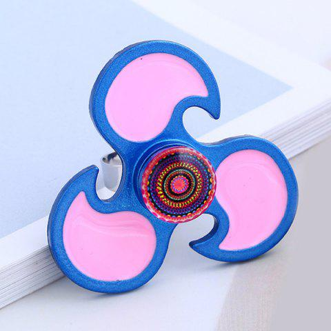 Cheap EDC Flower Hand Fidget Spinner Ring BLUE