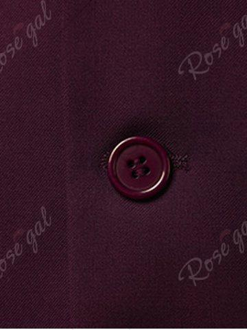 Chic Slim Fit Lapel Single Breasted Casual Blazer - M WINE RED Mobile