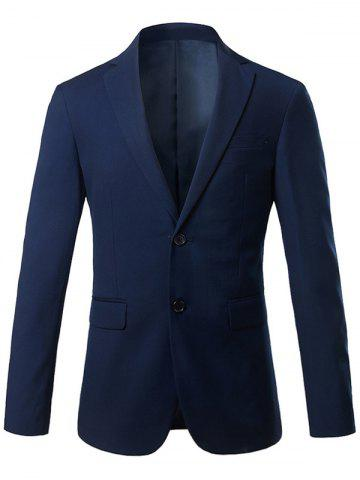 Slim Fit Lapel Blazer Casual Breasted Casual Royal M