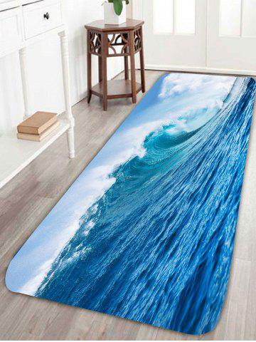 Sea Beach Printed Skid Resistance Bath Rug - Light Blue - W24 Inch * L71 Inch