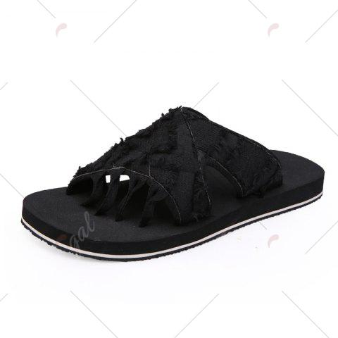 Buy Synthetic Flip Flop Slippers - 41 BLACK Mobile