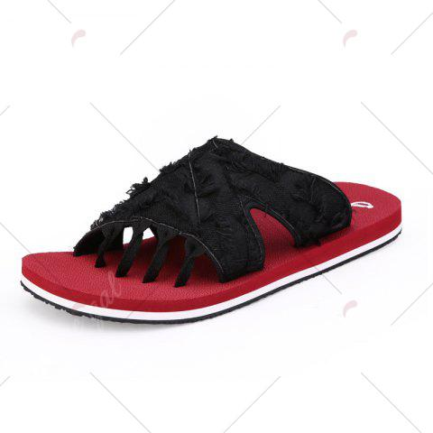 Shop Synthetic Flip Flop Slippers - 43 RED Mobile